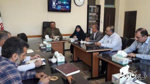 سومین جلسه شورای انجمن اولیای مرکزی شهرستان آزادشهر
