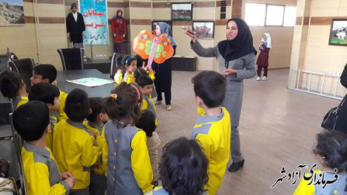بازدید علمی مهد و کودک ستارگان آسمانی از موزه مردم شناسی آزادشهر