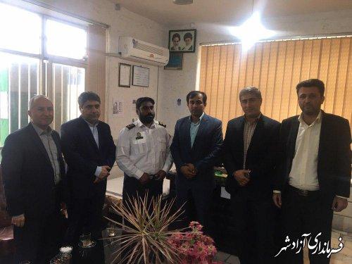 بازدید سرزده معاون سیاسی و امنیتی فرماندار آزادشهر از ایستگاه پلیس راه و پلیس راهور