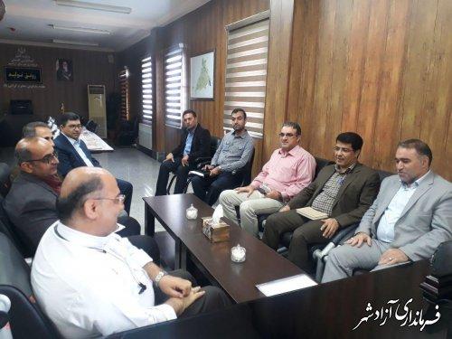 دیدار مدیرکل راه و شهرسازی استان گلستان با فرماندار شهرستان آزادشهر