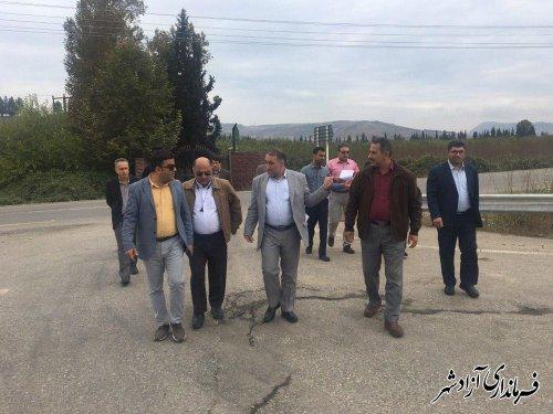 بازدید مشترک فرماندار آزادشهر و مدیرکل راه و شهرسازی از محور ترانزیتی آزادشهر با شاهرود