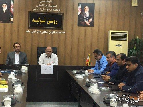 مانور آمادگی امداد و نجات در دی ماه در شهرستان آزادشهر برگزار می شود