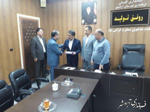 مراسم تکریم و معارفه معاونین فرمانداری شهرستان آزادشهر برگزار شد