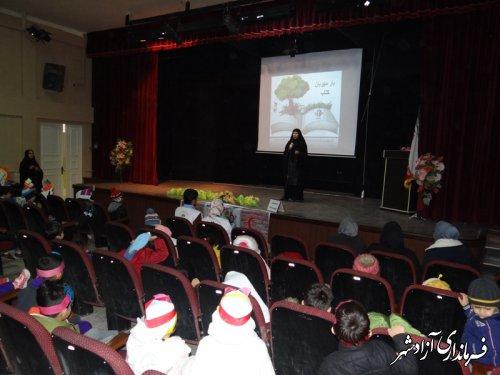 برگزاری همایش یار مهربان کتاب به مناسبت هفته کتاب و کتابخوانی ویزه مهدکودک های شهرستان آزادشهر