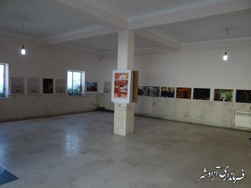 برپایی نمایشگاه آثار هنرهای تجسمی قرآن و عترت در شهرستان آزادشهر