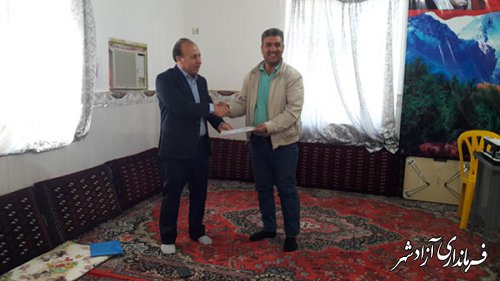 تقدیم احکام انجمن های میراث فرهنگی روستای تاتاربایجق شهرستان آزادشهر