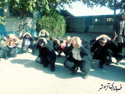بیست و یکمین مانور سراسری زلزله و ایمنی در مدارس شهرستان آزادشهر برگزار شد
