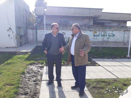 بازدید فرماندار آزادشهر از پروژه های در دست اجرای شهرداری نگین شهر