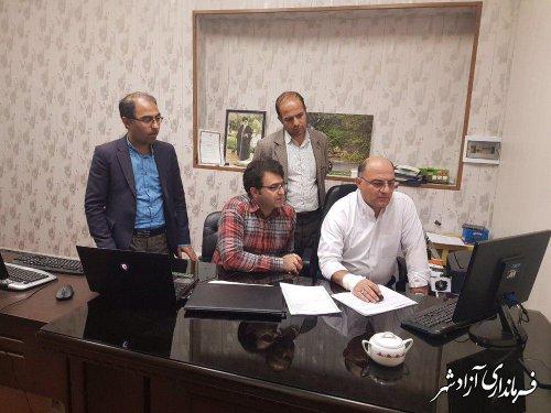 مانور سراسری سامانه جامع انتخابات در شهرستان آزادشهر برگزار شد