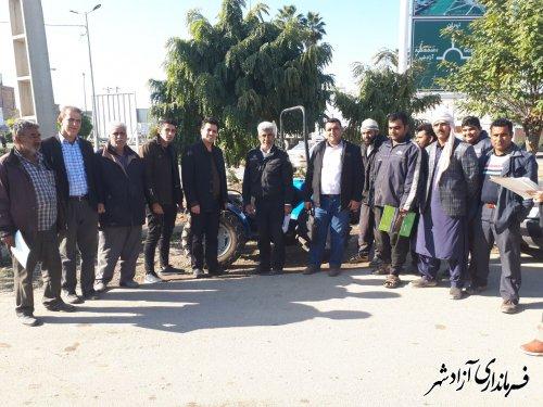 اجرای طرح پلاک گذاری ماشین آلات کشاورزی در آزادشهر
