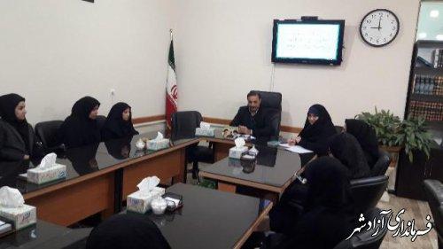 سومین جلسه هم اندیشی بانوان فرهنگی سرپرست خانواده شهرستان آزادشهر