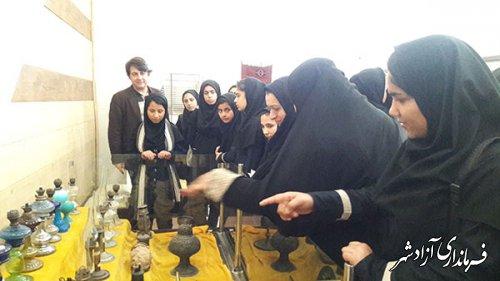 بازدید مدرسه دخترانه شهید کوهی نوده خاندوز از موزه مردم شناسی آزادشهر