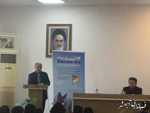 دیدار فرماندار و مدیرکل بهزیستی استان با معلولان موفق شهرستان آزادشهر