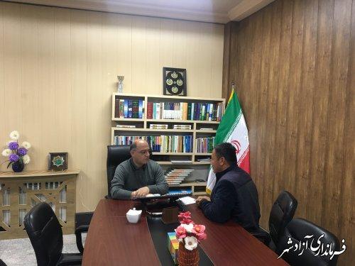 ملاقات چهره به چهره جمعی از شهروندان با فرماندار شهرستان آزادشهر