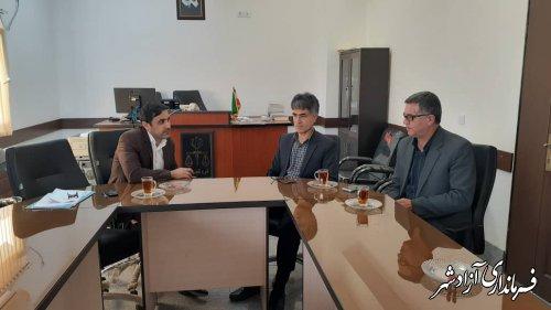 دیدار مدیر کل منابع طبیعی با رییس دادگستری شهرستان آزادشهر