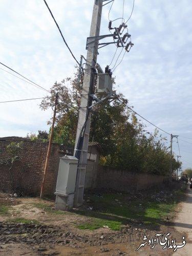 احداث شبکه فشار متوسط و فشار ضعیف با اعتبار بالغ بر31.920.000.000ریال در سطح شهرستان آزادشهر