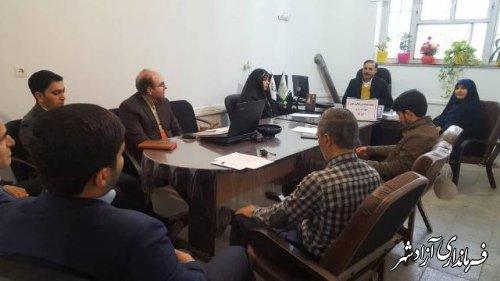 جلسه هماهنگی وهم اندیشی فعالیتهای حوزه پرورشی آموزش و پرورش آزادشهر