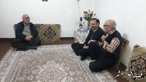 دیدار مدیر آموزش و پرورش آزادشهر با خانواده بازنشستگان فرهنگی این شهرستان