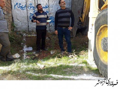 فعایت پیگیر وشبانه روزی واحد جلوگیری از تخلفات ساختمانی در سطح شهر بروایت تصویر