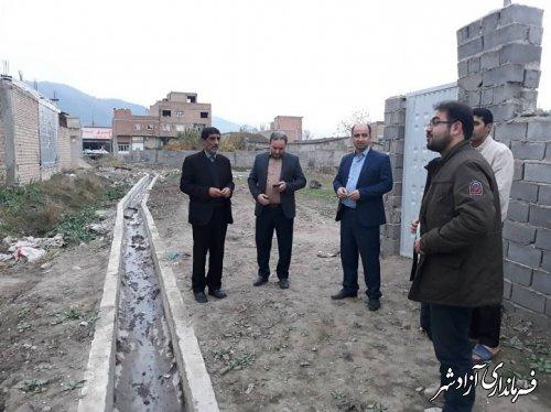 بازدید اعضای محترم شورای اسلامی از پروژهای سطح شهر