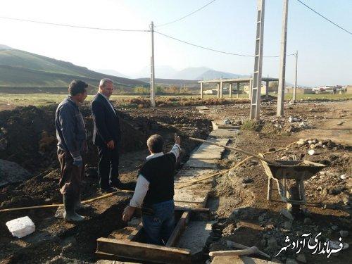 بازدید معاونت محترم شهرداری آزادشهر از پروژهای در حال انجام شهرداری