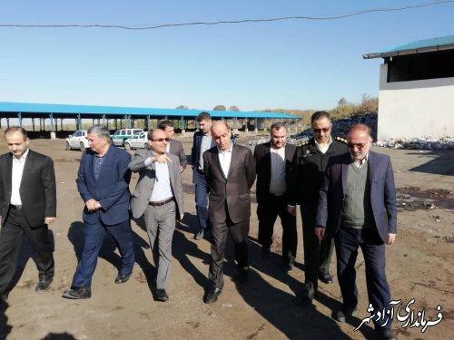 استاندار گلستان از سایت بازیافت زباله شهرستان آزادشهر بازدید کرد