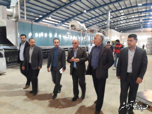 بازدید فرماندار آزادشهر از 4 واحد صنعتی فعال در شهرک صنعتی آزادشهر