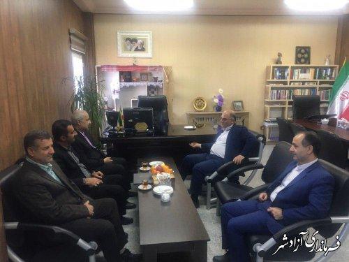 دیدار مدیرکل سازمان انتقال خون استان گلستان با فرماندار شهرستان آزادشهر