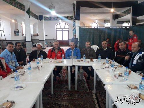 مانور سراسری ایمنی در برابر زلزله در شهرستان آزادشهر برگزار شد
