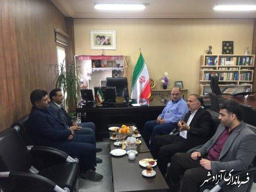 دیدار مدیرکل اموال و املاک بنیاد مستضعفان استان گلستان با فرماندار آزادشهر