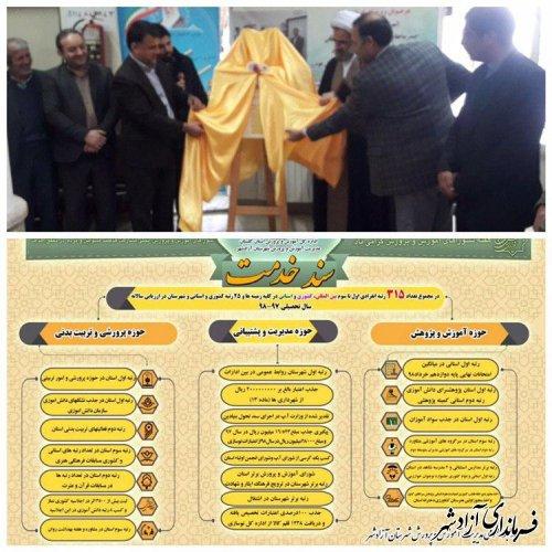 رونمایی از سند خدمت و مجموعه افتخارات حوزه آموزش و پرورش شهرستان آزادشهر
