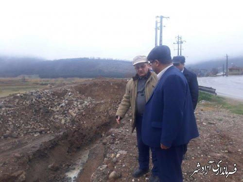 فرماندار و مدیرکل پدافند غیرعامل استان از محورهای مواصلاتی حوزه های پدافندی آزادشهر بازدید کردند
