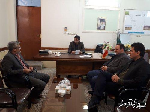 برگزاری جلسه جهادکشاورزی آزادشهر با اداره تعاون روستایی آزادشهر و رامیان