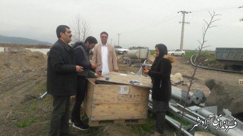 نظارت بر اجرای طرح های آبیاری تحت فشار توسط مدیریت جهادکشاورزی آزادشهر