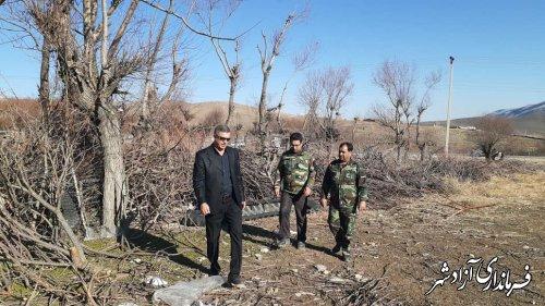 بازدید رییس اداره منابع طبیعی و سرجنگلبان چشمه ساران از مراتع بخش چشمه ساران آزادشهر