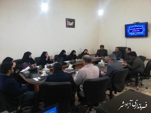 جلسه هم اندیی معاونین مدارس متوسطه2 شهرستان آزادشهر