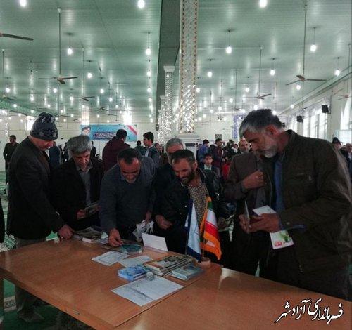تشکیل میز خدمت میراث فرهنگی شهرستان آزادشهر در مصلای جمعه
