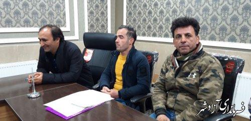 جلسه توافق شهرداری با مالکین خط خاندوز در محل دفتر شهردار