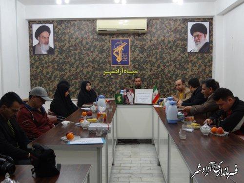 نشست صمیمی مسئولین انجمن های فرهنگی هنری شهرستان آزادشهر