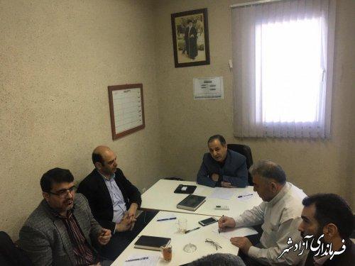کمیسیون کارگری شهرستان آزادشهر با موضوع بررسی مشکلات کارگران برگزار شد