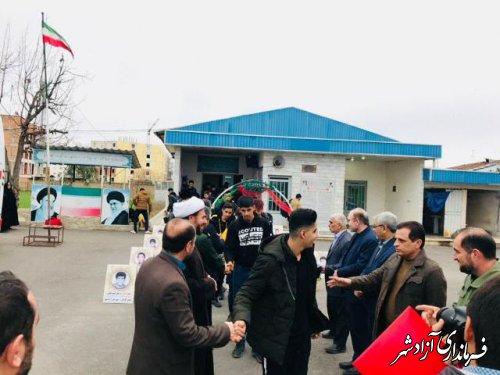 اعزام دانش آموزان بسیجی آزادشهری به اردوی راهیان نور