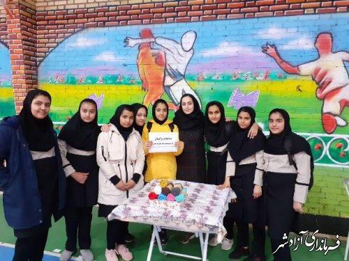 پایان مسابقات والیبال مدارس دخترانه متوسطه اول شهرستان آزادشهر گرامیداشت دهه فجر