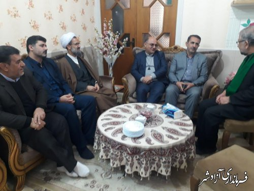 دیدار و دلجویی مسئولین شهرستان آزادشهر با خانواده شهیدان میرعرب و جعفری