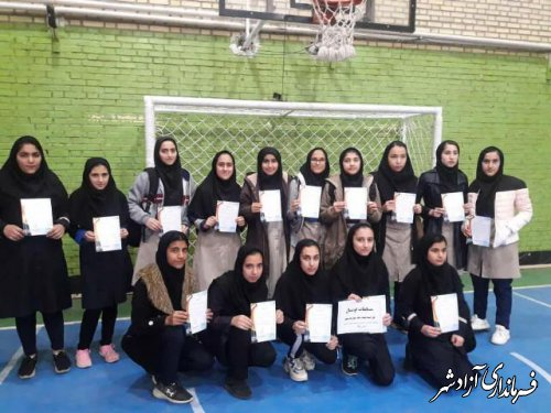 پایان مسابقات فوتسال متوسطه ۲ دختران این شهرستان گرامیداشت دهه فجر در شهرستان آزادشهر