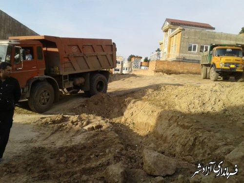 عمیات جلوگیری از ساخت وسازهای غیر مجاز در سطح شهر وممانت از بین بردن مراتع وتپه ها