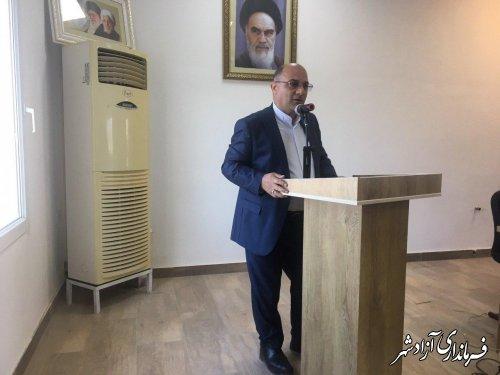 جلسه شورای اداری و افتتاح متمرکز 142 پروژه عمرانی، اقتصادی و اشتغالزا شهرستان آزادشهر برگزار شد