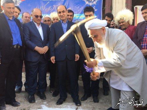 آیین افتتاح و کلنگ زنی متمرکز پروژه های حوزه آب روستایی آزادشهر برگزار شد