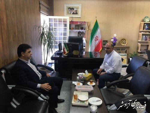 دیدار و گفتگوی مدیرعامل شرکت آب و فاضلاب روستایی استان گلستان با فرماندار آزادشهر