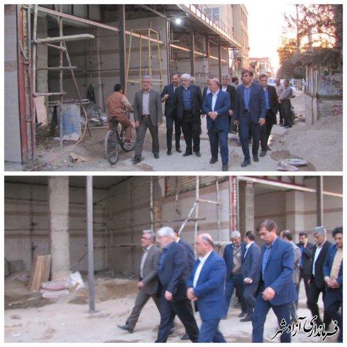 بازدید معاون وزیر آموزش و پرورش از طرح تجاری سازی املاک بلااستفاده شهرستان آزادشهر