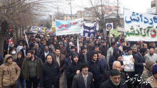 برگزاری راهپیمایی باشکوه و بی نظیر 22 بهمن در شهرستان آزادشهر